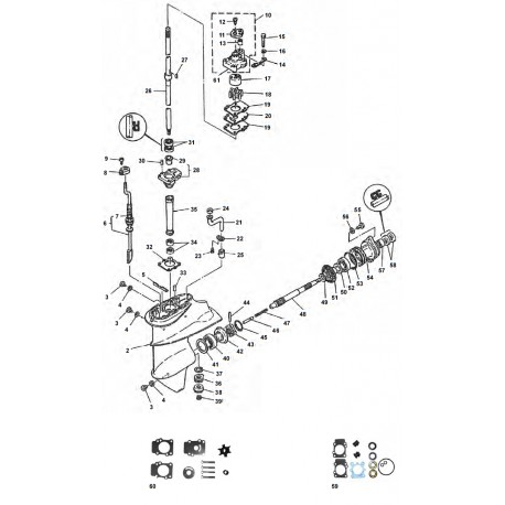9.9D - 15D - Nautical Spare Parts M D Tohatsu Outboard Wiring Diagram on