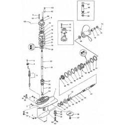 yamaha nautical spare parts Mercury Outboard Lower Unit Diagram 20c cm 25d de c25hp 30a c30