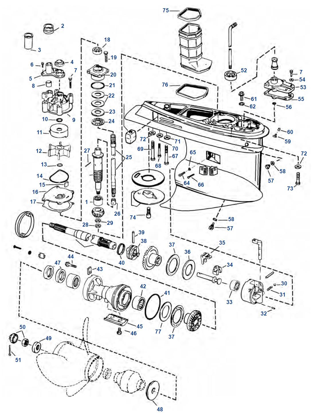 """Gear Ratio V4 / V6 """"M"""" (1902-06), V4 2 25:1 ( 44), V6 1 86:1 ( 54"""
